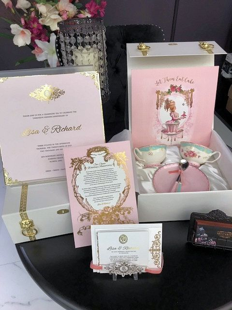 Marie Antoinette Boxed Tea Party Invitation